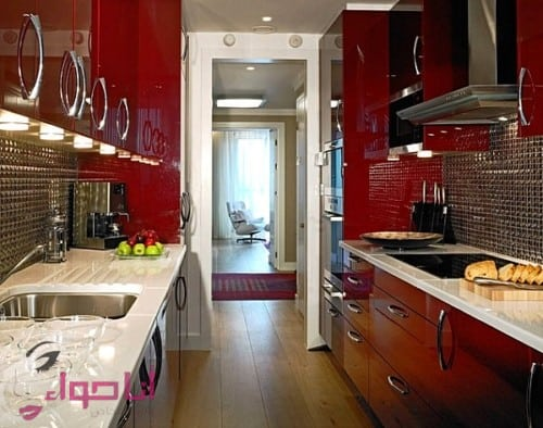 2017 for Bright red kitchen cabinets