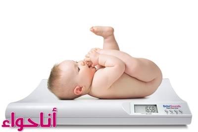 وزن الرضيع حسب العمر للذكور والاناث