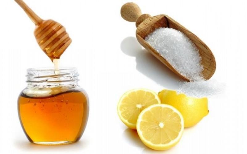 ماسك لتقشير الوجه - السكر والليمون