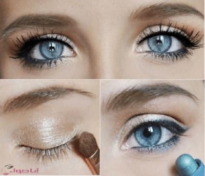طريقة عمل مكياج عيون خفيف بالخطوات