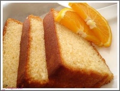 طريقة عمل الكيكة الاسفنجية بالبرتقال 2