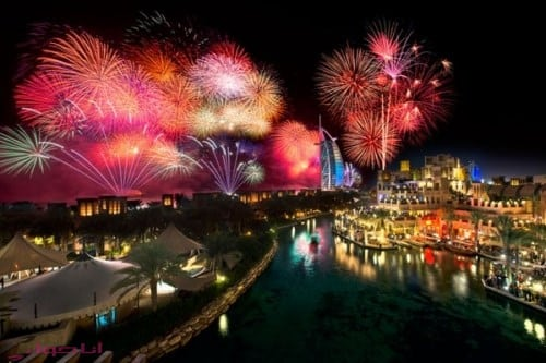 احتفالات راس السنة في دبي