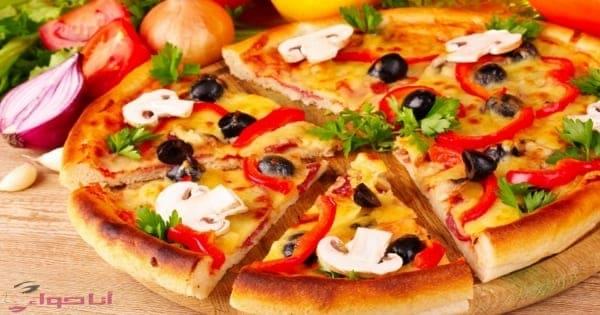 طريقة عجينة البيتزا السريعه