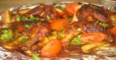 صينية دجاج بالبطاطس 2