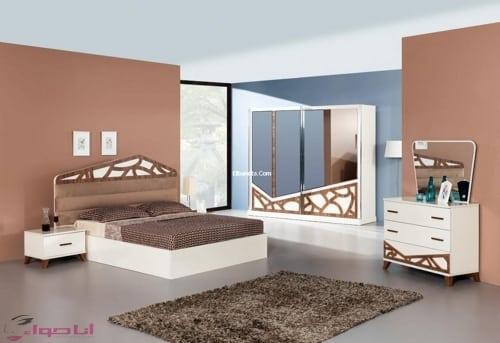 غرف نوم للعرسان كاملة بالدولاب