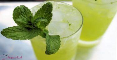 عصير ليمون بالنعناع 3