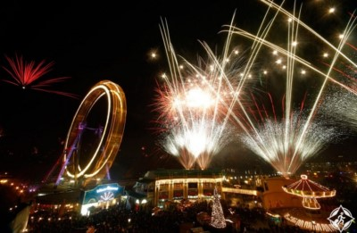 احتفالات مدينة لندن الإنجليزية في ليلة رأس السنة الميلادية