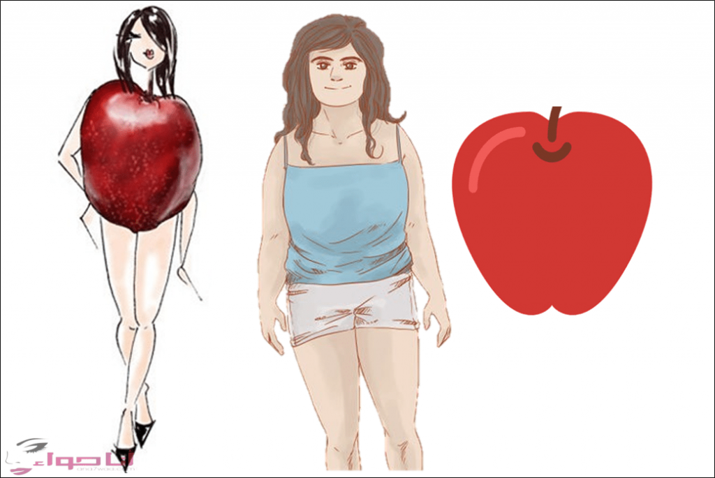 فساتين للجسم التفاحي