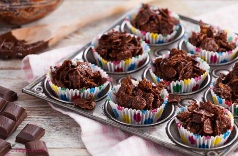 حلوي الشوكولاتة بالكورنفليكس